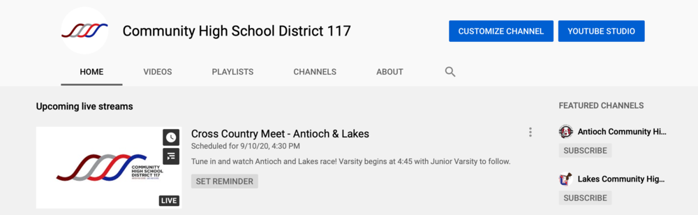 New! Live Streaming Events And Athletics at D117