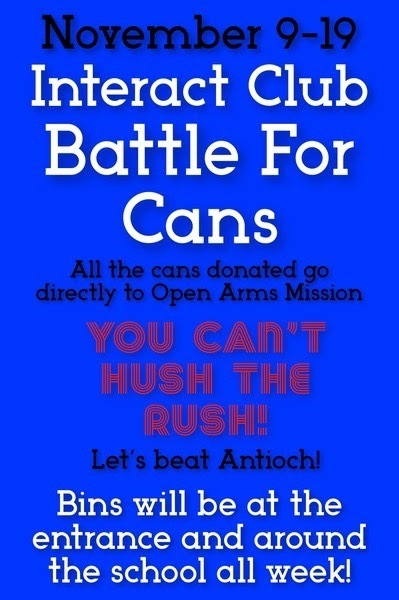 Blue flyer for Battle For Cans