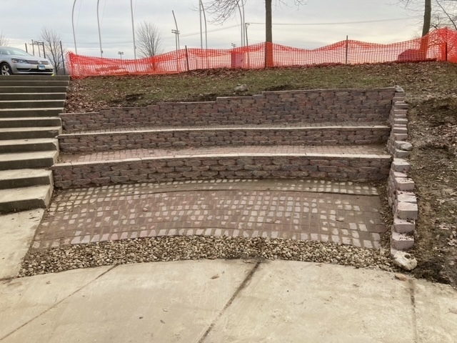Outdoor Amphitheater Improvement - now with paver seating surface