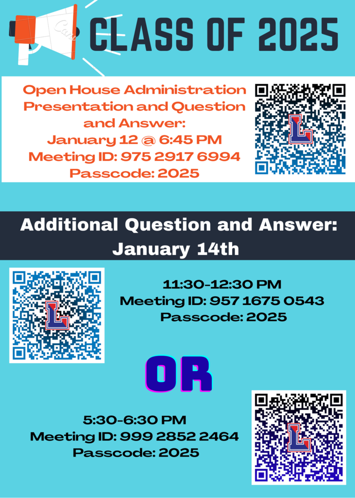 Class of 2025 open house flyer
