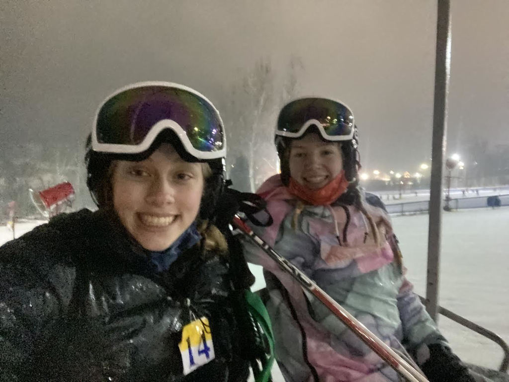 Ella Pfiefer and Paige Rung - Ski Club at Alpine Valley