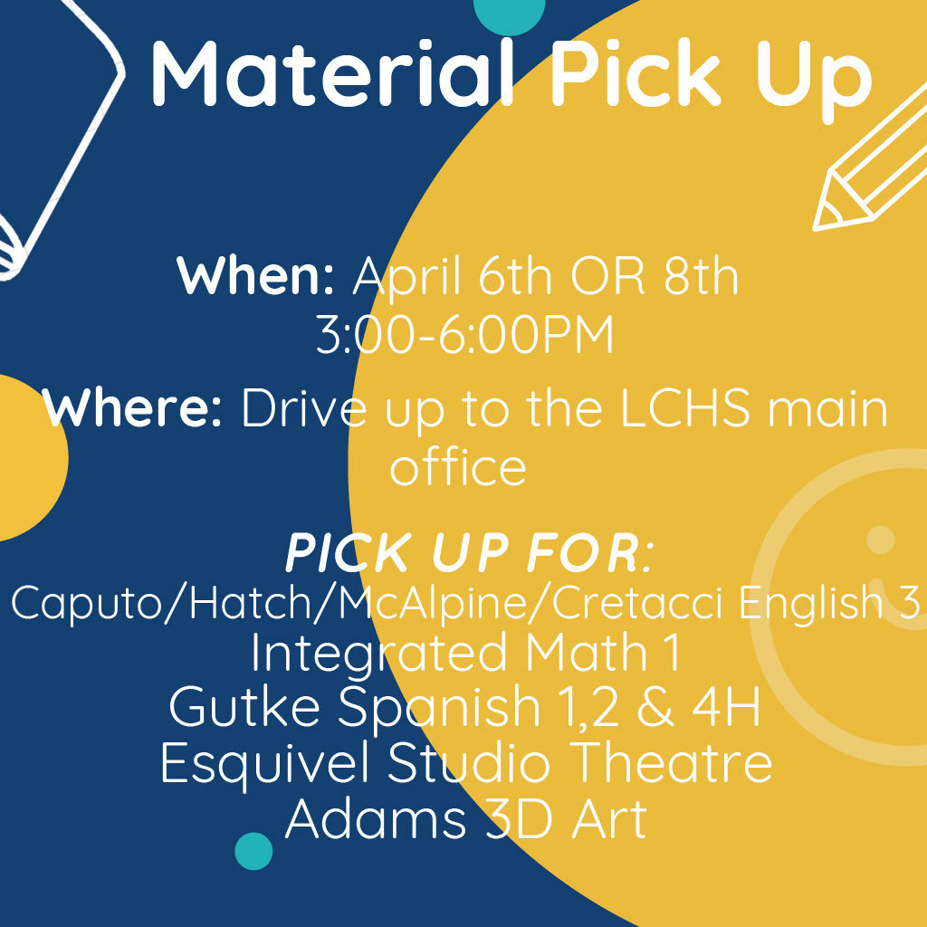 April 2021 material pick-up flyer