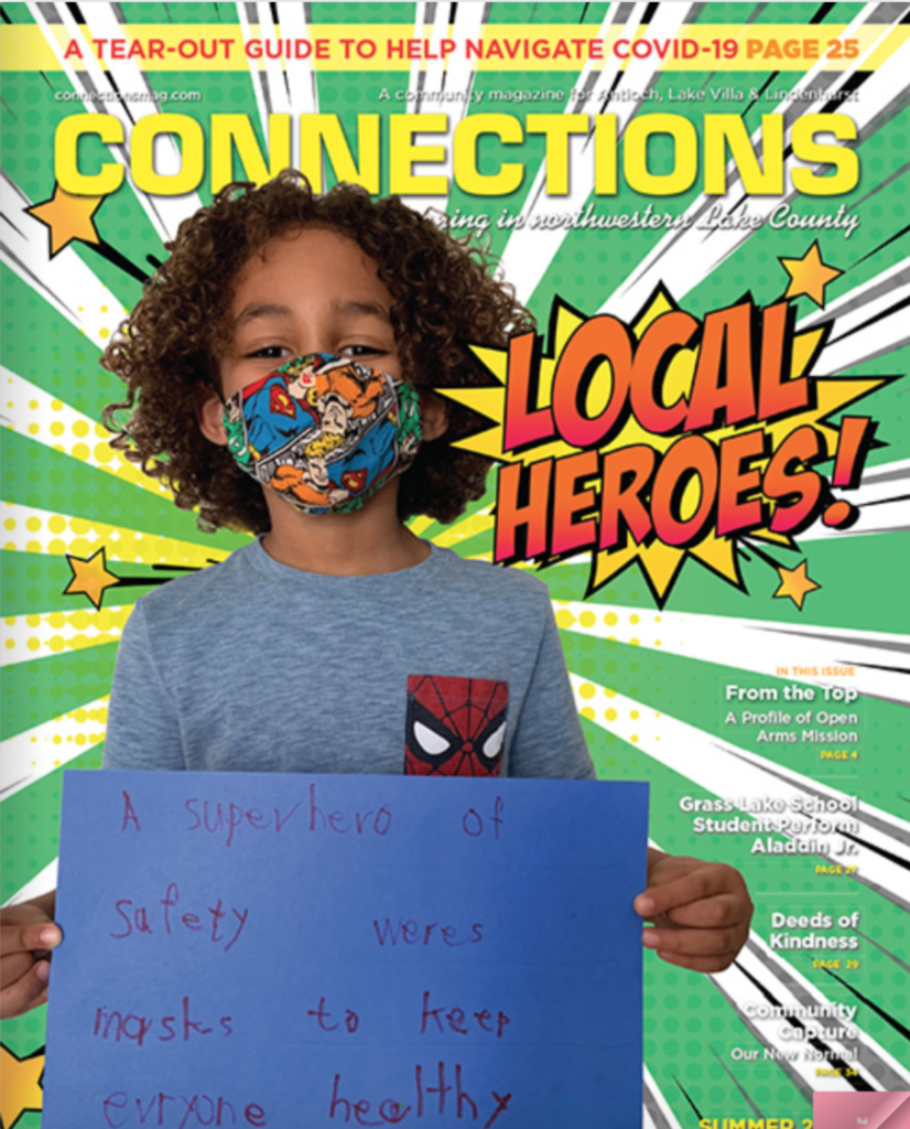 Summer Magazine Cover of Connections Community Magazine